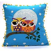Karma Living Watchful Eyes Love Owls Throw Pillow - 16 x 16