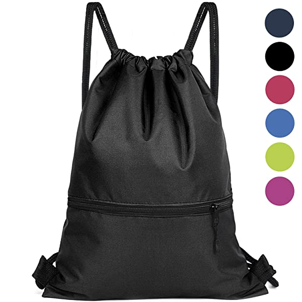 adb4a9e85635 Drawstring Backpack Bag - Gym Sackpack Cinch Bags for Men and Women ...