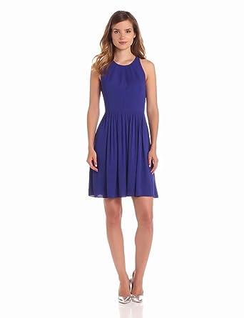 Rebecca Taylor Women's Demi Femme Dress, Purple, 0