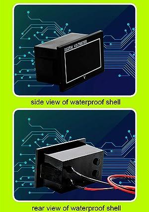 6-60V Waterproof Lead Acid Battery Capacity Meter Voltage Tester Multifunction Voltmeter Battery Capacity Indicator (Color: Black, Tamaño: Version 3-Waterproof 6-60V)