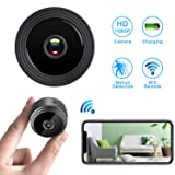 WiFi Hidden Spy Camera,Mini Spy Camera HD 1080P Wireless Security Camera for Home Nanny Cam with Night Vision Motion Detection, Built-in Magnetic Fit Indoor Outdoor Recording (Color: Black)