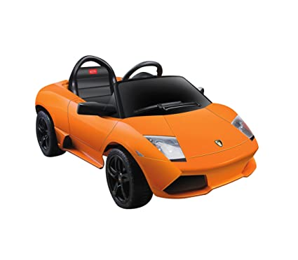 Jamara - 404612 - Maquette - Voiture - Ride On Car - Lamborghini Murciealago Lp 640-40 Roadster - Orange - 6 Pièces