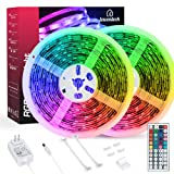 LED Strip Lights, Lewentech 32.8ft RGB Color Changing Light Strip Kit with Remote and Control Box for Room,Bedroom, TV, Cupboard Decoration, Bright 5050 LEDs, Cutting Design, Easy Installation (Color: Multicolor, Tamaño: 32.8 FT)