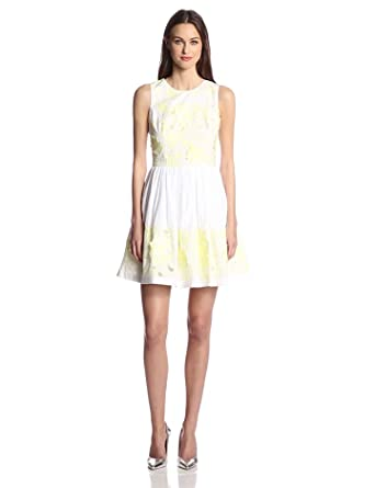 French Connection Women's Lotus Cut Work Dress, Techno Valley, 0