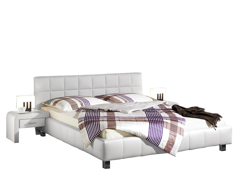 Maintal Betten 240190-4691 Polsterbett Java, 160x200 cm, Kunstleder, weiß