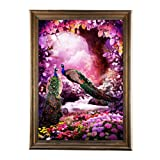 Adarl 5D DIY Diamond Painting Rhinestone Pictures of Crystals Embroidery Kits Arts, Crafts & Sewing Cross Stitch Peacock 6 (Color: peacock 6, Tamaño: 12
