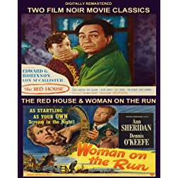 Two Film Noir Movie Classics, The Red House & A woman on the Run