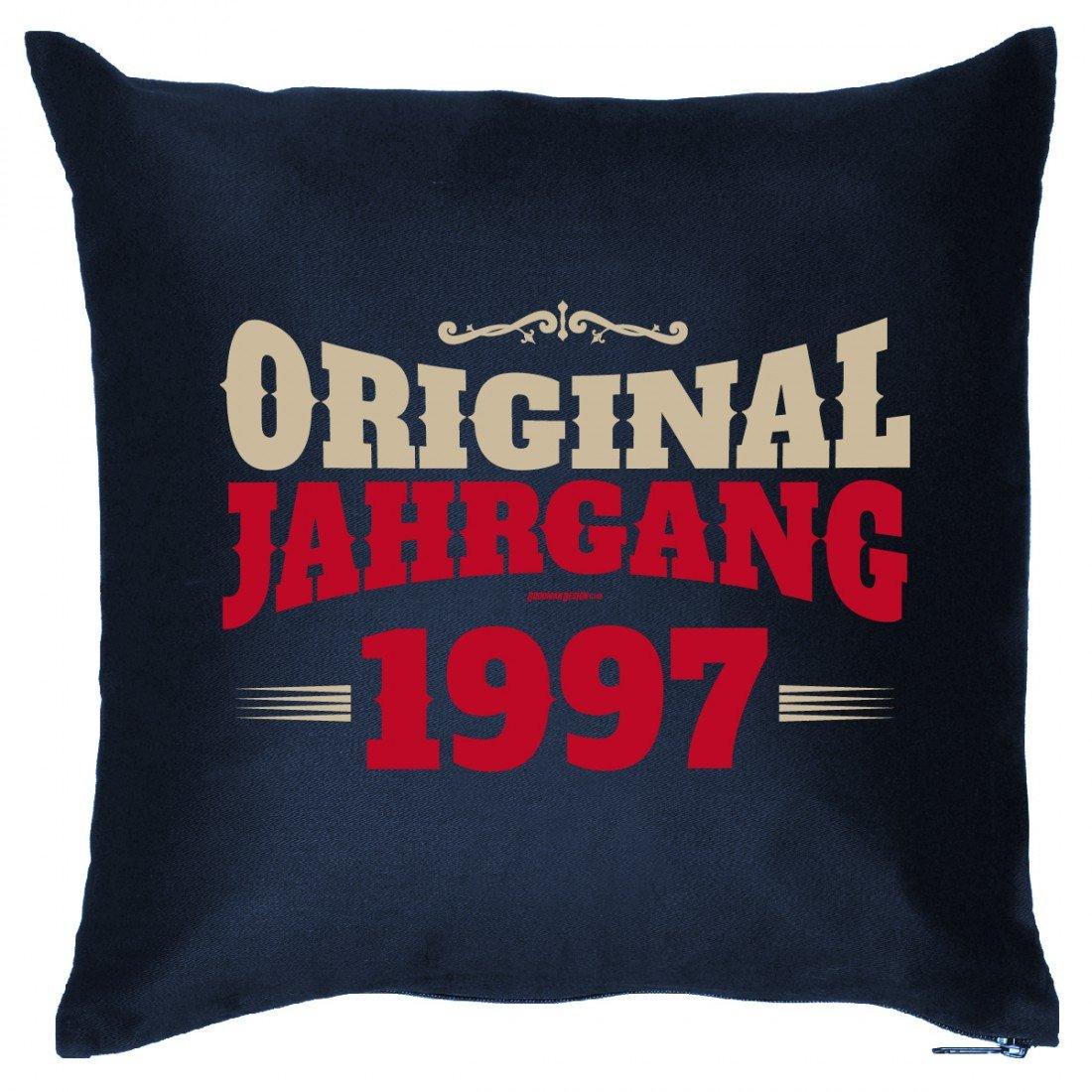 Couch Kissen mit Jahrgang zum Geburtstag - Original Jahrgang 1997 - Sofakissen Wendekissen mit Spruch und Humor