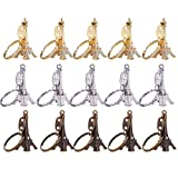 Outus 15 Pieces Retro Adornment Eiffel Tower Keychain Key Ring