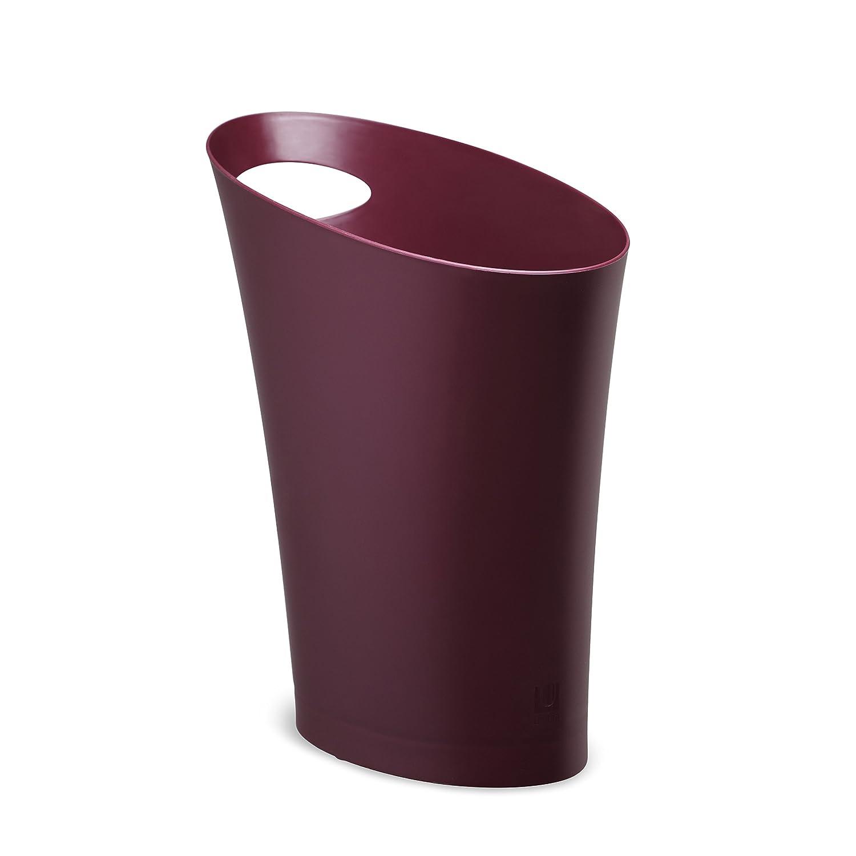 Umbra 082610-723 Cans und Bins Skinny Mülleimer mit Griff, Abfalleimer, Müllsammler, Papierkorb, Kunststoff, Aubergine günstig kaufen