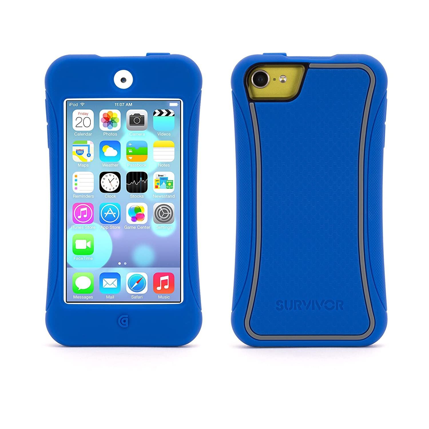 Blue with Grey Trim Survivor Slim for iPod touch (5th gen.)
