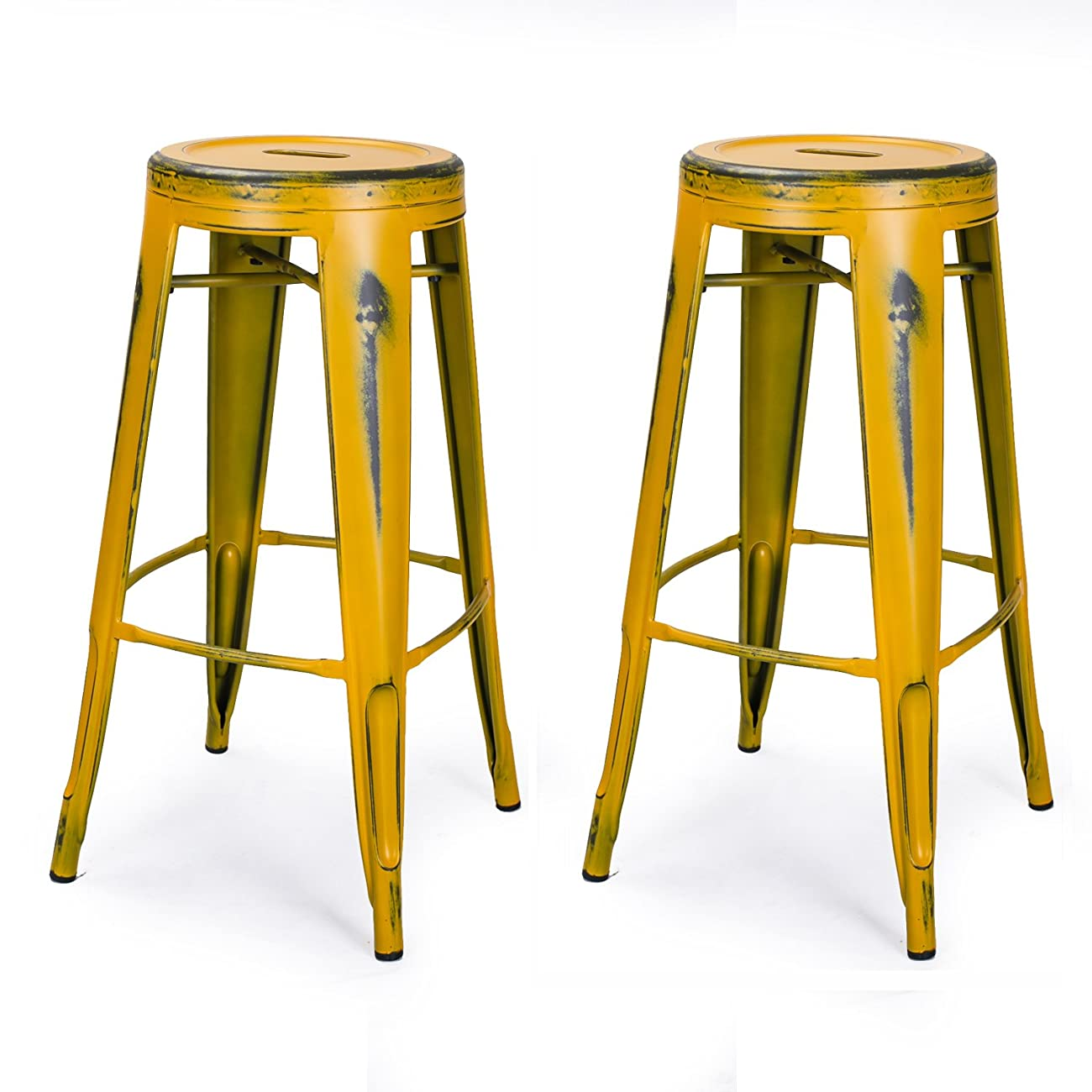Joveco 30-inch Vintage Inspired Metal Bar Stools, Set of 2 0