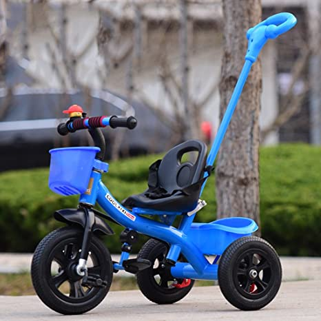 Bicyclette à bicyclette à bicyclette à bicyclette pour enfants (roue à mousse sans système de freinage) ( Couleur : Bleu )