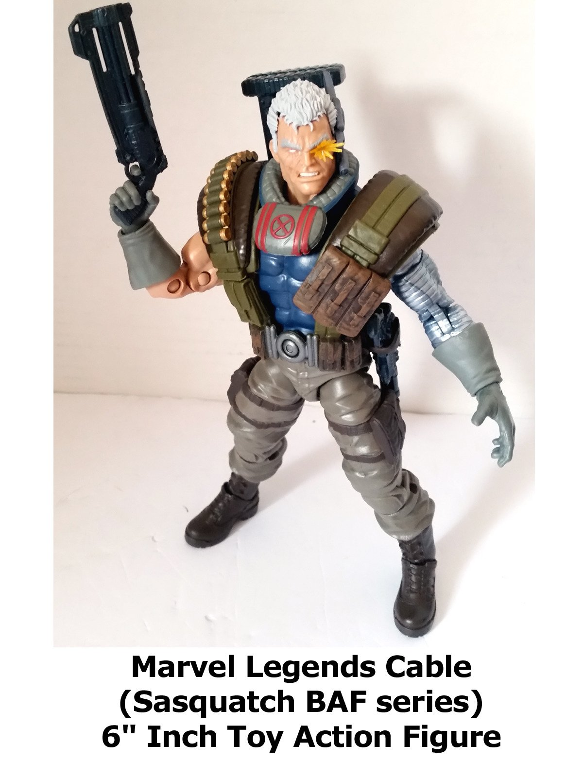 "Review: Marvel Legends Cable (Sasquatch BAF series) 6"" Inch Toy Action Figure"