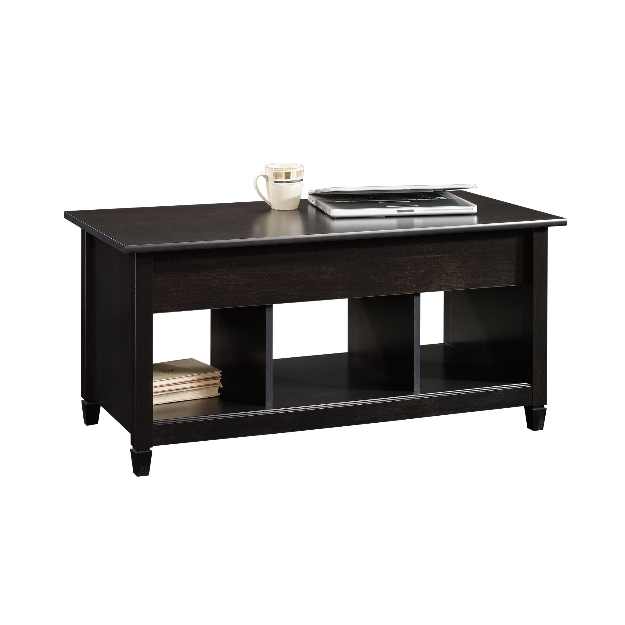 Sauder Edge Water Lift Top Coffee Table Estate Black