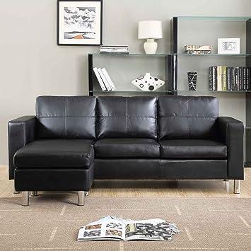 Group diseño sofá cómodo estructura de madera y revestimiento de ecopele fy-s1004