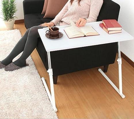 BBSLT Scrittorio del calcolatore di moda letto, comodino pieghevole di pigrone, creativi movimenti per spostare il bordo del tavolo divano