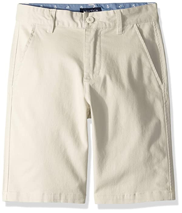 Dickies Khaki Boys Slim Fit Stretch Flat Front Short