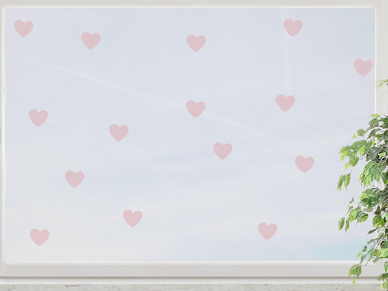 wandfabrik – Fenstersticker Herzchen 15 süße Herz (HZ215) – rosé – 758 – (Hg) günstig bestellen