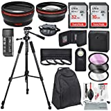 58MM HD 2.2X Telephoto and 0.43X Wide Angle + Xpix Platinum Photo Accessories & Travel Bag for Canon Rebel (T6s T6i T5i T4i T3i T3 T2i T1i XT), EOS (700D 650D 600D 1100D 550D 500D 100D)