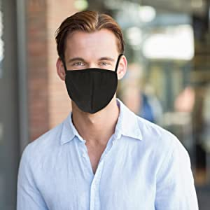 Pangda 4 Pack Anti-dust Cotton Mouth Face Masks Mouth Cover for Man and Woman (Black) (Color: Black)