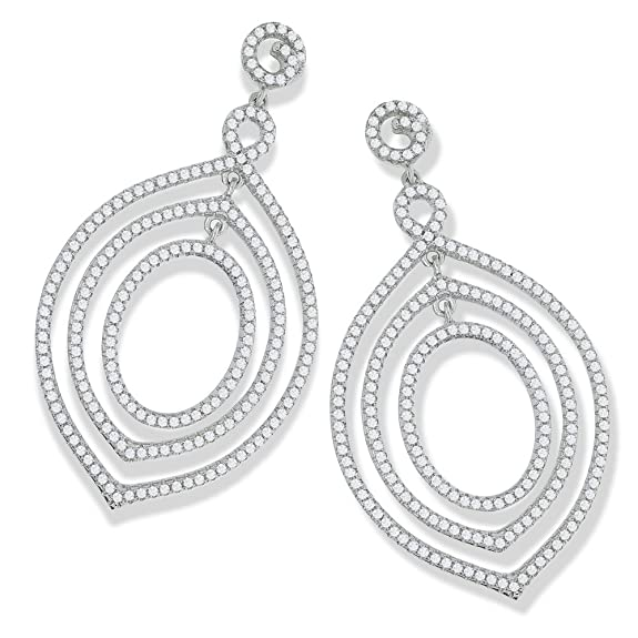 Micro Pave Fancy Drop cubic zirconia cz Earrings