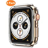 Apple Watch Series 4 Case 44mm,Monoy [3 - Pack] Soft TPU Protective Cover Bumper Case for iWatch Series 4 44mm (Clear, Series 4 44mm) (Color: Clear, Tamaño: Series 4 44mm)