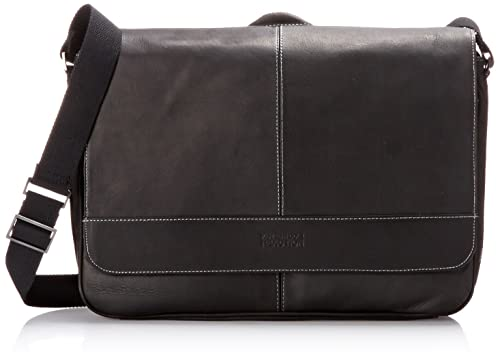 Kenneth Cole Reaction Come Bag Soon - Colombian Leather Laptop & iPad Messenger