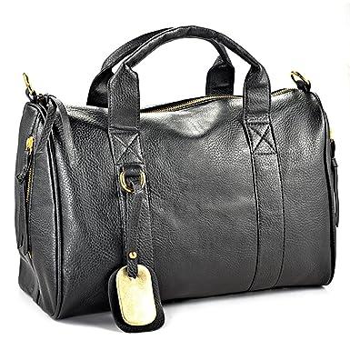 Black Shoulder Bag With Studded Bottom 119