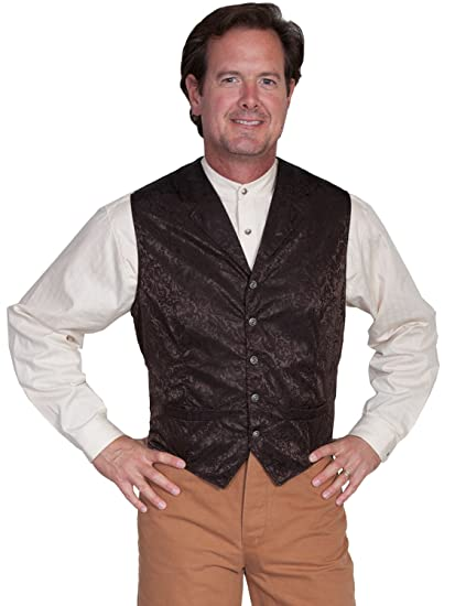 Men's Vintage Inspired Vests Floral Single Breasted Vest  AT vintagedancer.com