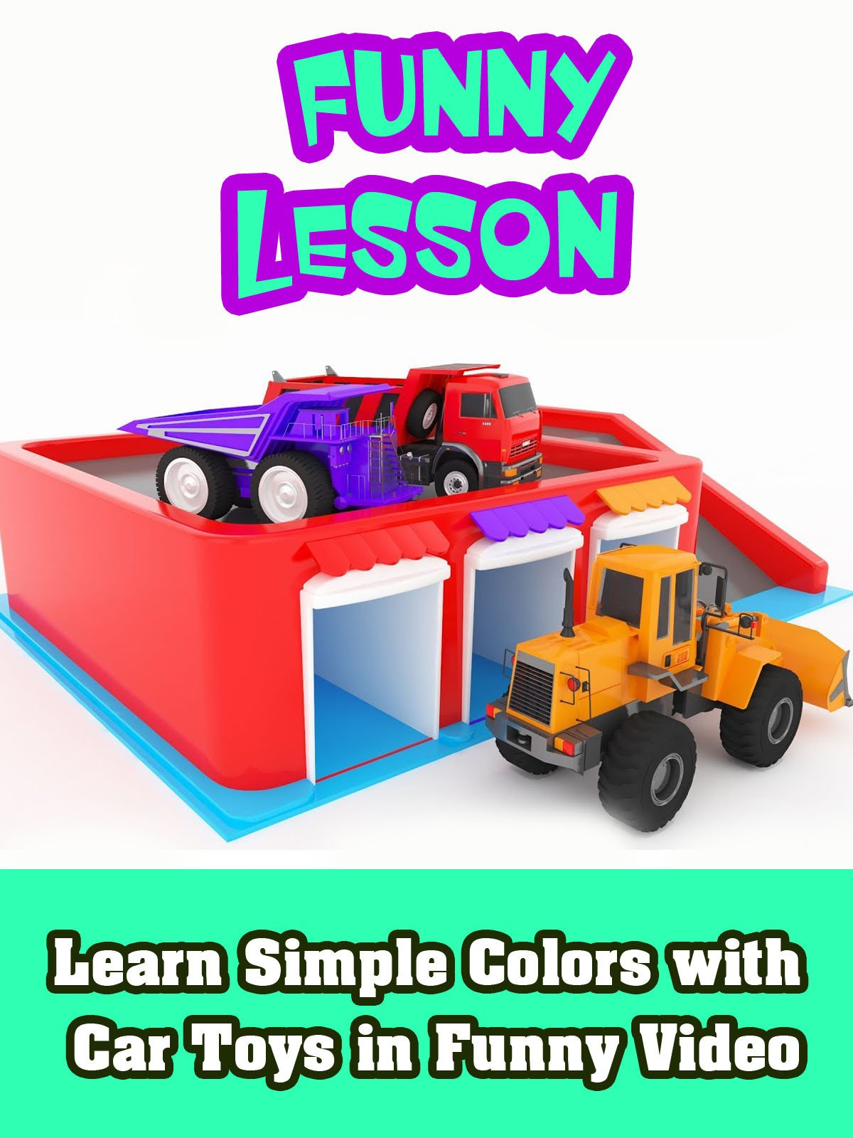 Learn Simple Colors with Car Toys in Funny Video