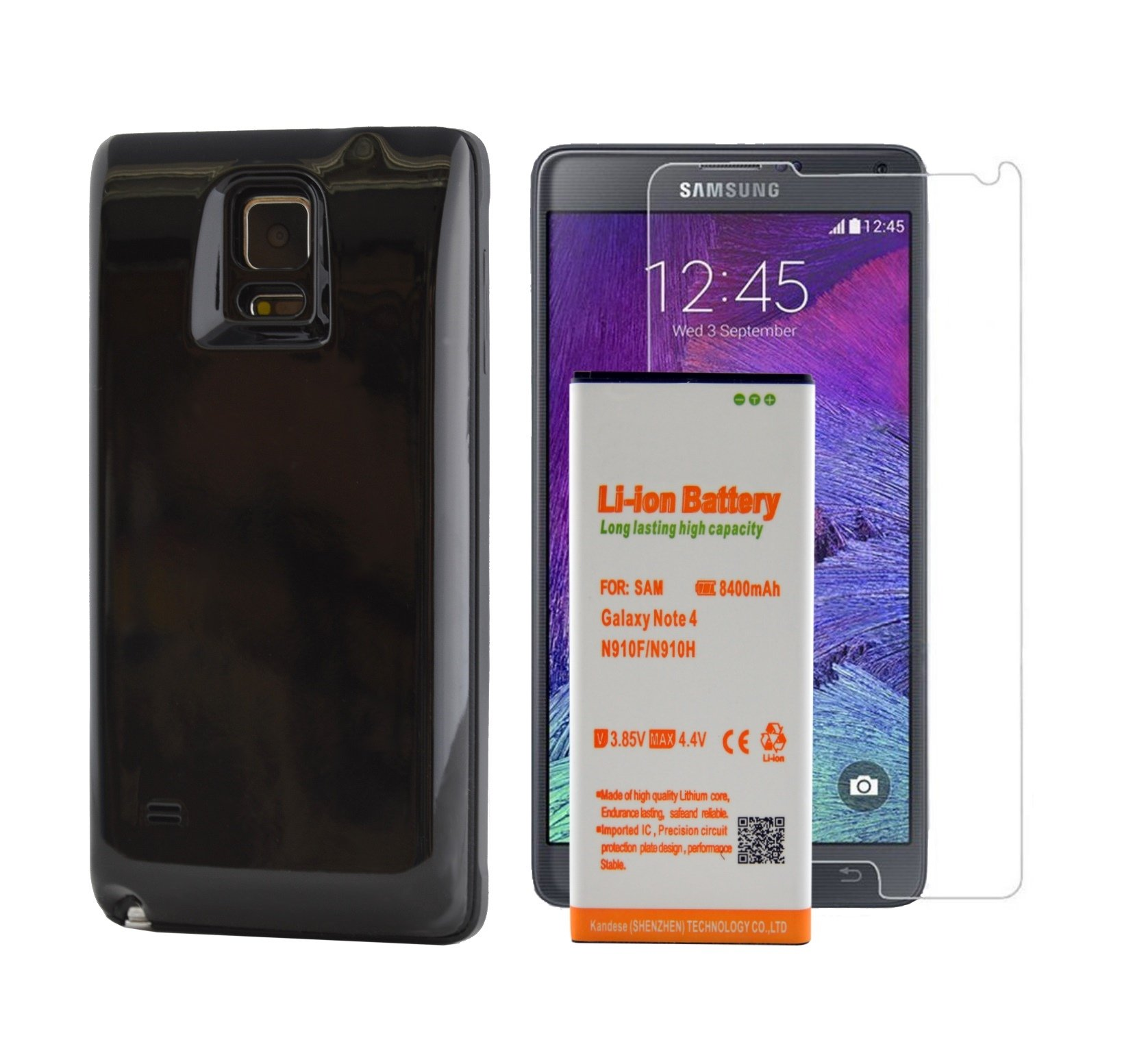 samsung galaxy note 4 extended battery 8400 mah power pack ebay. Black Bedroom Furniture Sets. Home Design Ideas