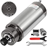 Mophorn Spindle Motor 4.5KW Square Water Cooled Spindle Motor ER25 Collect 18000RPM 380V CNC Spindle Motor for CNC Router Engraving Milling Machine (4.5KW Water Cooled) (Color: 4.5KW Water Cooled, Tamaño: 4.5KW)