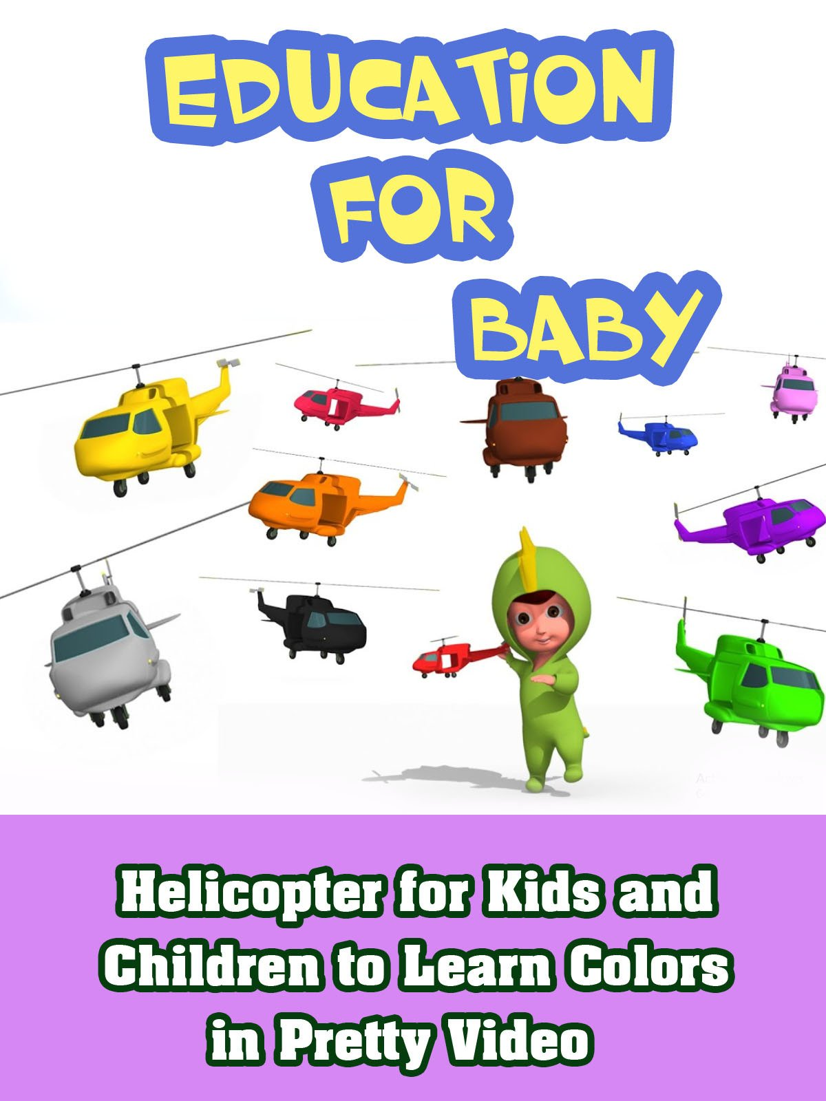Helicopter For Kids And Children To Learn Colors In Pretty