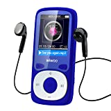 wiwoo 16GB Portable MP3 MP4 Player With Fm Radio, Lossless Music Player With Adjustable Armband For Running For Kids, Expandable Up to 64GB Micro SD card ( Blue )