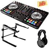 Pioneer DDJ-SX3 DJ Controller for Serato DJ Pro Bundle with Stand, Headphones, and Austin Bazaar Polishing Cloth (Color: Bundle w/ Stand, Tamaño: DDJ-SX3)