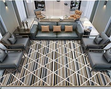 Q Alfombra rectangular moderna simple Sala de estilo europeo Mesa de centro Alfombras de la cama (tiras negras) ( Tamaño : 160*230cm )