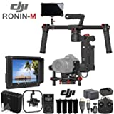 DJI Ronin-M 3-Axis Gimbal Stabilizer (Version 3) with 4k Supported HD Mounted Monitor, Proefssional Hard Case & Production Bundle (Color: Ronin-M, Tamaño: Production Kit)