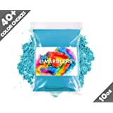 Marblers Powder Colorant 10oz (283g) [Turquoise] | Pearlescent Pigment | Tint | Pure Mica Powder for Resin | Dye | Non-Toxic | Great for Epoxy, Soap, Nail Polish, Cosmetics and Bath Bombs (Color: Turquoise, Tamaño: 10oz)