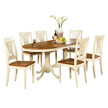 East West Furniture PLAI5-WHI-W 5-Piece Dining Table Set