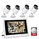YESKAMO Wireless Security Camera System 1080P 12