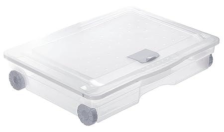 Coffre rangement plastique sous lit