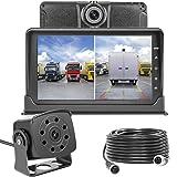 Dash Cam Front and Rear,Homder 7'' Monitor Front Lens with G-Sensor/Loop Recording/Motion Detection,IP69 Night Vision Rear View Camera Reversing Backup Camera for Trucks,Bus,Van,RV,Trailer (Tamaño: SV-680T)