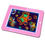 Hzran Crazy Disco Neon Light Up Glow Board-Magic Drawing Board - Writing Maker -Learning, Create, Art Tablet-Musical Light Up Tracing Pad for Kids, Gift for Kids, Pink (Color: Pink)