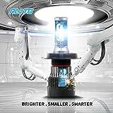 MZS Motorcycle H4 LED Headlights Bulbs,30W 6500K 5000 Lumens Super Bright 9003 HB2 Hi/Lo Cool White Cree,2 Year Warranty