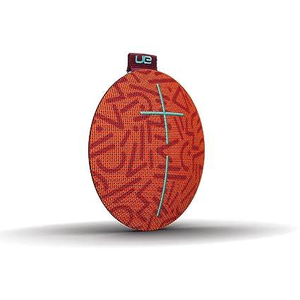 Enceinte Bluetooth ultra-portable UE ROLL - Étanche, Résistante aux Chocs - Orange/Marron/Bleu clair