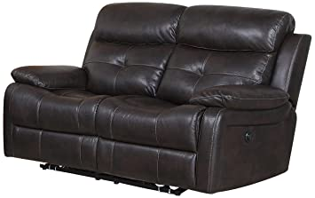 Pulaski Metro Loveseat with Power Jordan Java