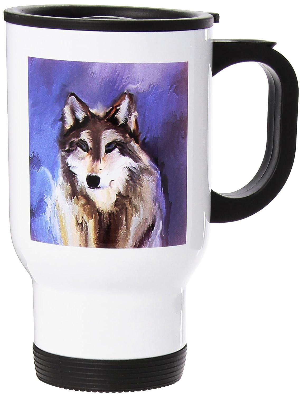 tm_3347 Dinzas Art Animals - Wolf - Travel Mug термокружка emsa travel mug 360 мл 513351