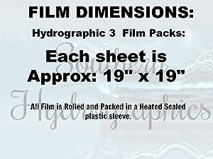 Hydrographics Film Water Transfer Printing Film Hydro Dipping Dip Film Hydrographic Film Colorful Lightning 3 Pack Hydro Film