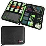 Cable Storage Bag, Electronics Travel Organizer for Cord, Phone Charger, Wire, External Hard Drive, Power Bank, Flash Drive, SD Cards, USB, Travel Gear Gadget Pouch(Black) (Color: Black(1 Layer), Tamaño: Large)